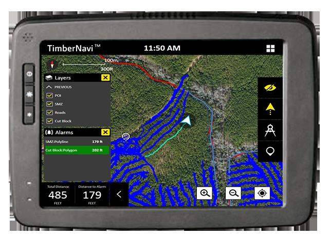 TimberNavi™ Jobsite Mapping Solution